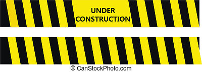 Under construction warning tape - Under construction black...