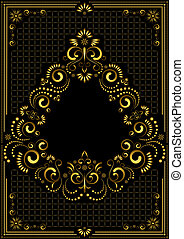 Gold frame ornament in east style