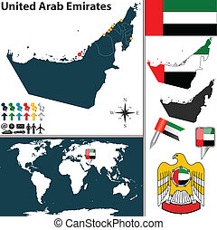 Map of United Arab Emirates - Vector map of United Arab...