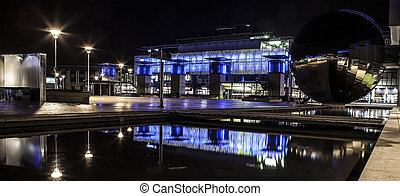 Millennium Square Bristol at night