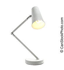 Low Energy angle-poise lamp on white background