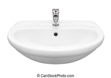 Washbasin isolated on white background