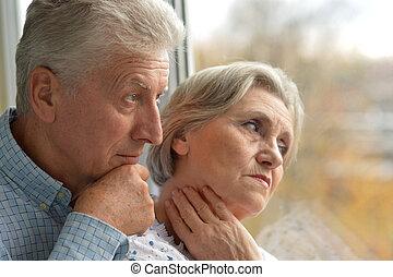 Portrait of an elder couple
