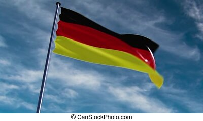 Germany Flag, HQ animated, neutral - ready to use animation...