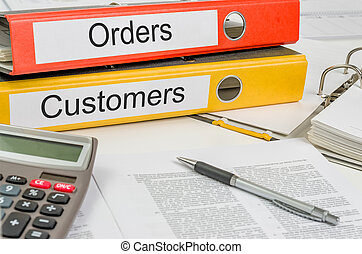 Folders with the label Orders and Customers