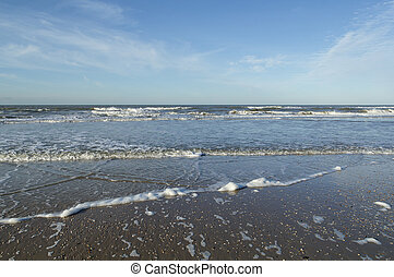 North Sea - View on the North Sea from a beach in the...