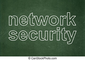 Privacy concept: Network Security on chalkboard background