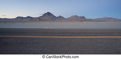 This highway carries much traffic from Utah into Nevada and...
