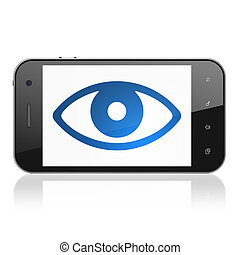 Security concept: Eye on smartphone