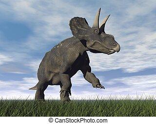 Diceratops dinosaur - 3D render - Diceratops dinosaur...