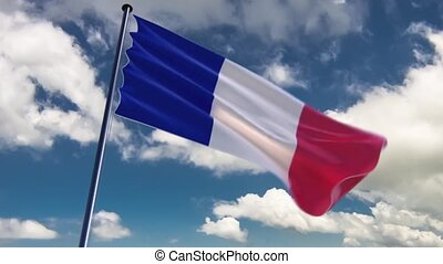 France Flag, HQ animated, neutral - ready to use animation...