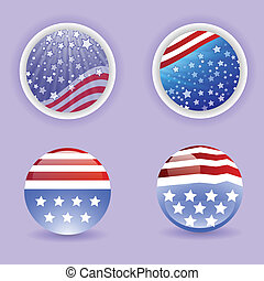 flag USA - colorful illustration with flag USA for your...
