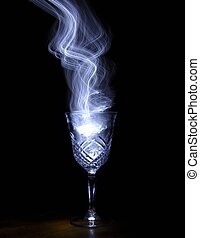 Magic potion 4 - White smokelight coming out of clear wine...