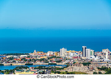 Historic Cartagena, Colombia - View of the historic center...