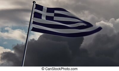 Greece Flag, HQ animated, doomy - ready to use animation of...