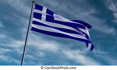 Greece Flag, HQ animated, neutral - ready to use animation...