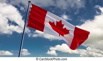 Canada Flag, HQ animated, neutral - ready to use animation...