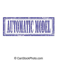 Automatic Model-stamp - Grunge rubber stamp with text...