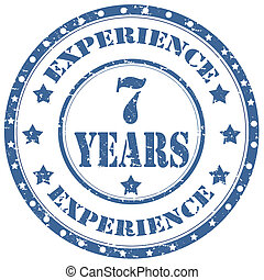 Experience 7 Years-stamp - Grunge rubber stamp with text...