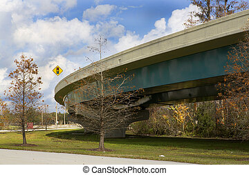 Exit ramp off Interstate 4 in Orlando, Florida Image is shot...