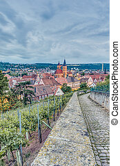Esslingen am Neckar views from Burgsteige to the Castle...
