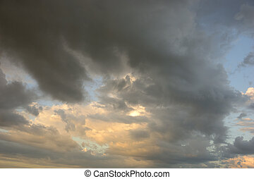 Beautiful sky with dramatic clouds