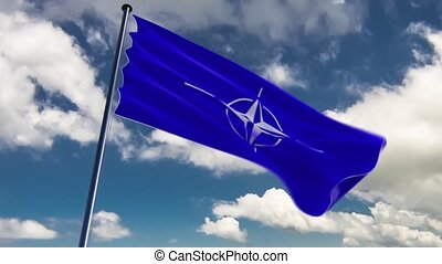 NATO Flag, HQ animated - ready to use animation of the NATO...