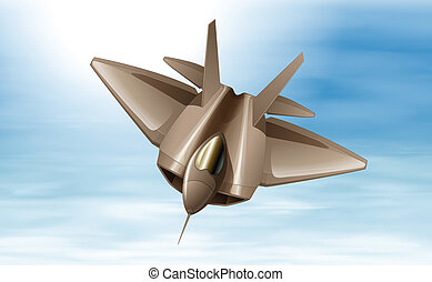 A fighterjet in the air - Illustration of a fighterjet in...