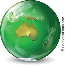 Green earth - Illustration of a green earth