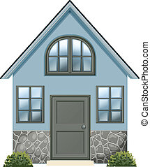 A simple single detached house - Illustration of a simple...