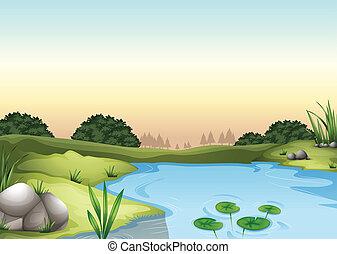 An ecosytem - Illustration of an ecosytem
