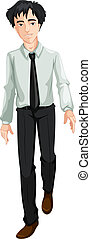 Office Guy - Illustration of an office guy on a white...