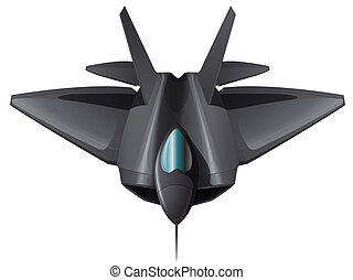 A gray fighterjet flying - Illustration of a gray fighterjet...