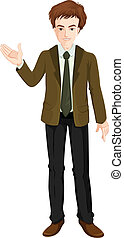 A businessman standing - Illustration of a businessman...