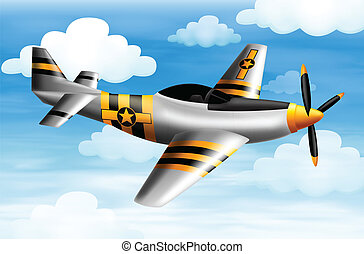 A fighter plane - Illustration of a fighter plane