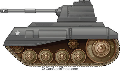 An armoured fighting vehicle - Illustration of an armoured...