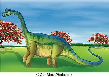 Brachiosaurus - Illustration showing the Brachiosaurus