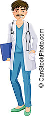 A male physician