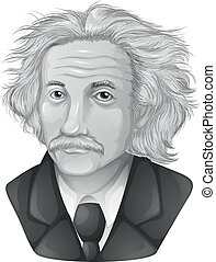 Albert Einstein - Drawing of Albert Einstein gray