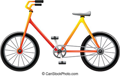 A bicycle - Illustration of a bicycle on a white background