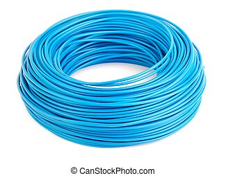 Cable Roll - Roll of blue electic wire