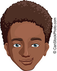An african-american guy - Illustration of an...