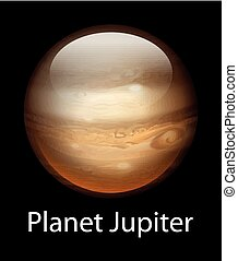 Planet Jupiter - Illustration of the planet Jupiter