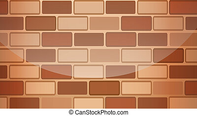 A brown stonewall - Illustration of a brown stonewall