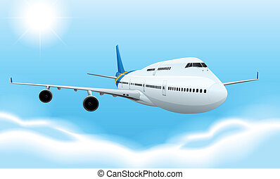 Commerical aircraft - Illustration of a commerical aircraft...