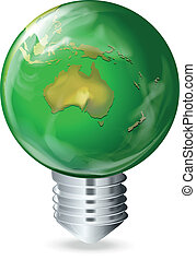 Eco-friendly light bulb - Illustration of an eco-friendly...