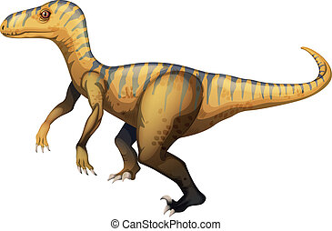 Velociraptor - Illustration of a velociraptor