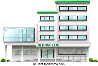 A hospital building - Illustration of a hospital building on...