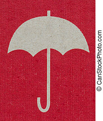 Umbrella symbol - Umbrella symbol on the boxKeep Dry Sign