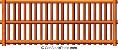 Fence - Illustration of the fence on a white background